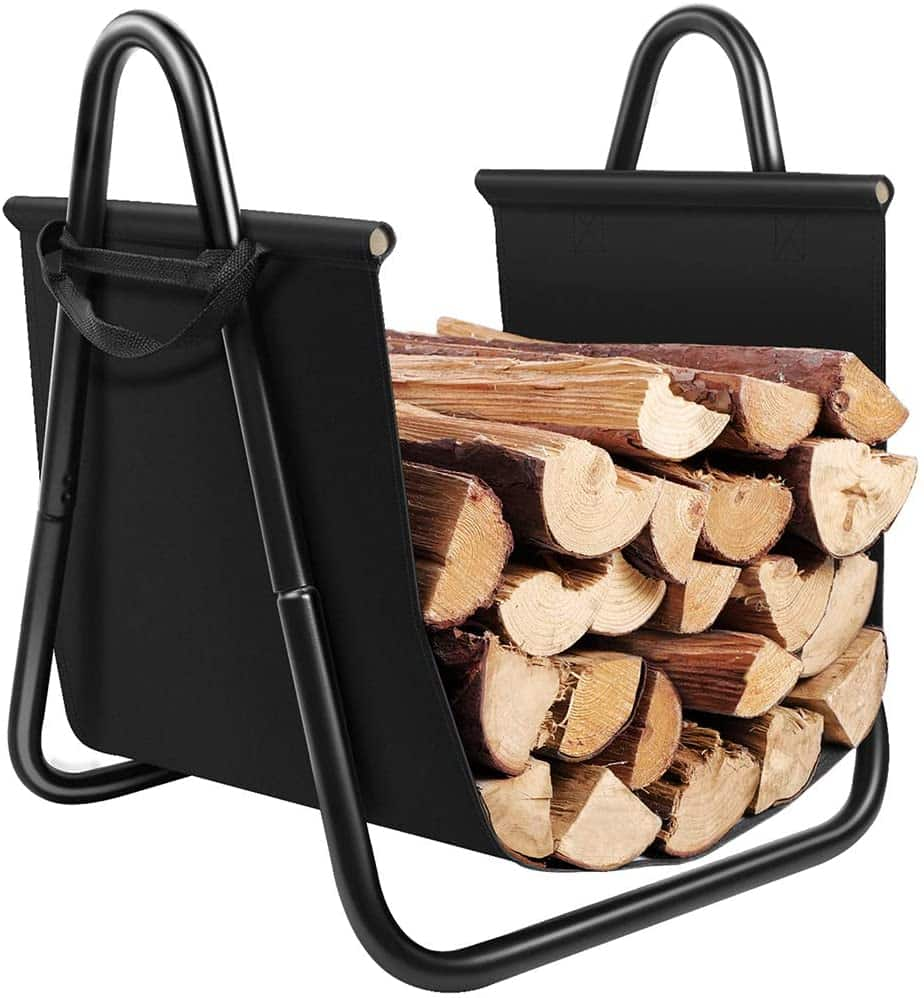 Amagabeli Fireplace Log Holder with Canvas Tote
