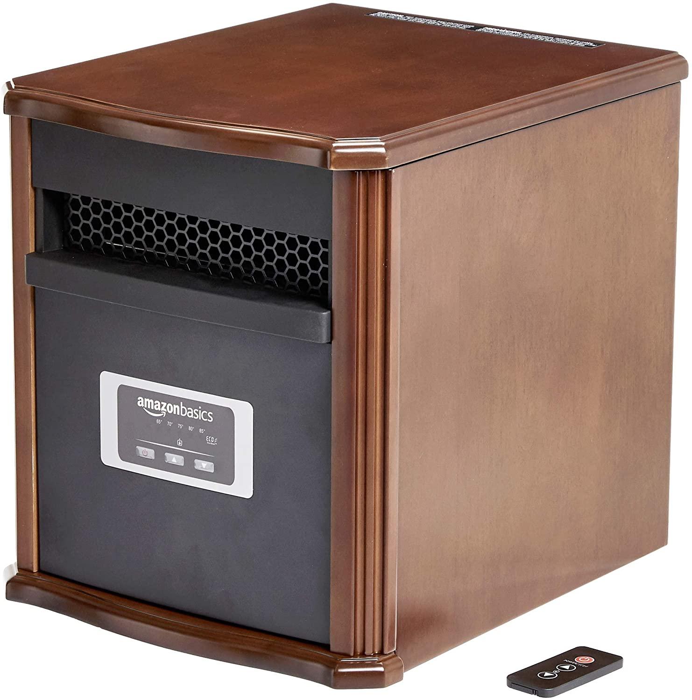 AmazonBasics Portable Eco-Smart Space Heater – Wood