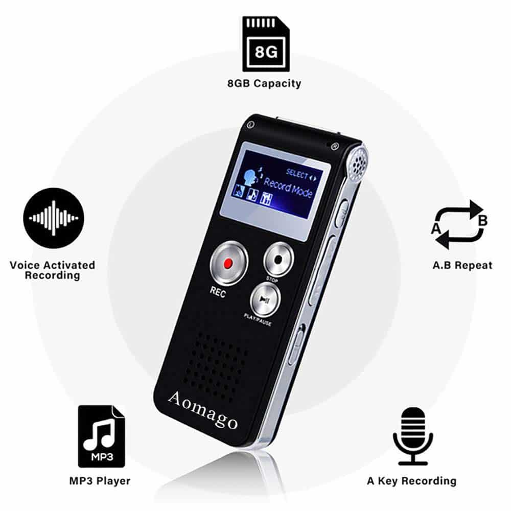 Aomago Digital Voice Recorder