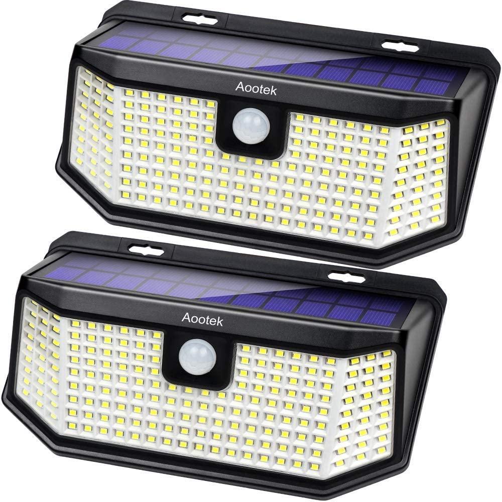 Aootek 182 LED Solar Outdoor Motion Sensor Lights