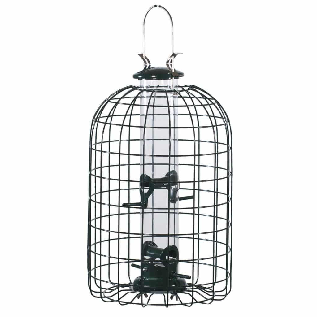 Audubon Squirrel Proof Caged Tube Type Bird Feeder