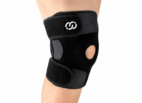 Compressions Knee Brace Support - Neoprene Open Patella Stabilizer with Adjustable Velcro - Best for Meniscus Tear, Arthritis, ACL, MCL, Sports, Running, Basketball for Men & Women