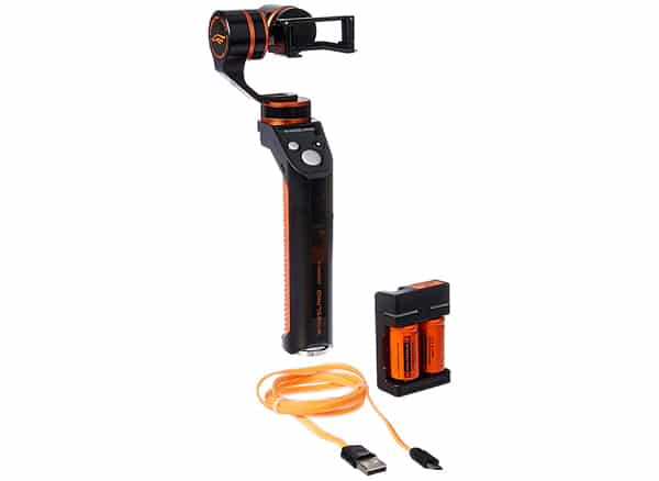 WINGSLAND 3-Axis Handheld Gimbal Stabilizer for GoPro, Extra Batteries, Orange