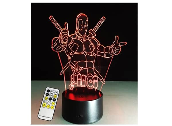 Deadpool 3D Lamp