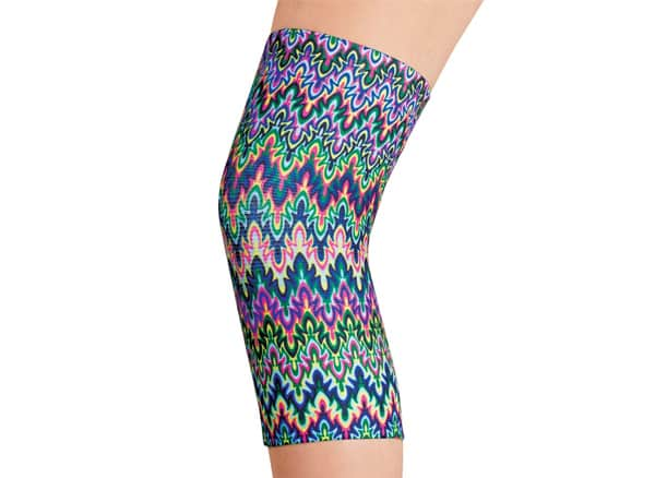 Celeste Stein Pain Relieving Compression Knee Sleeve - 4 Way Elastic Stretch Band for Extra Support, Multicolor, Plus Size
