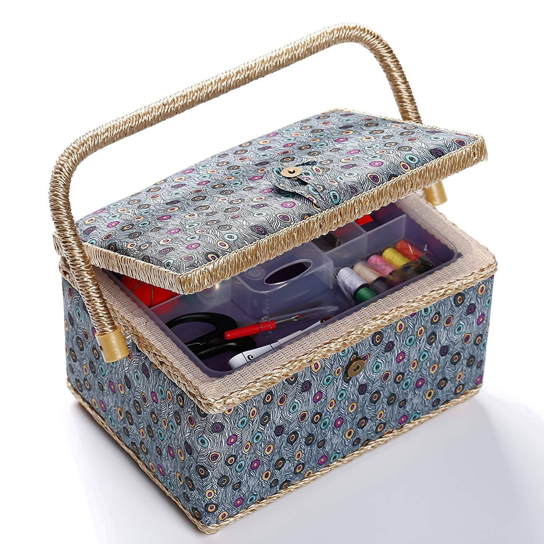 Bbloop Medium Vintage Sewing Basket