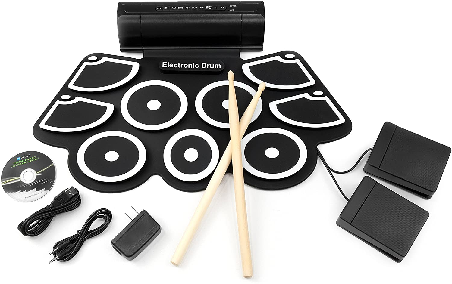 Best Choice Products MIDI Electronic Drum Pad Set