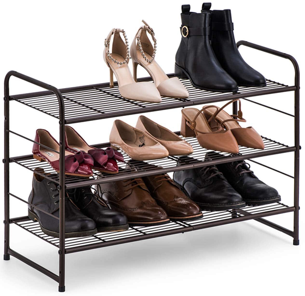 Bextsware 3-tier Shoe Organizer Rack Stand
