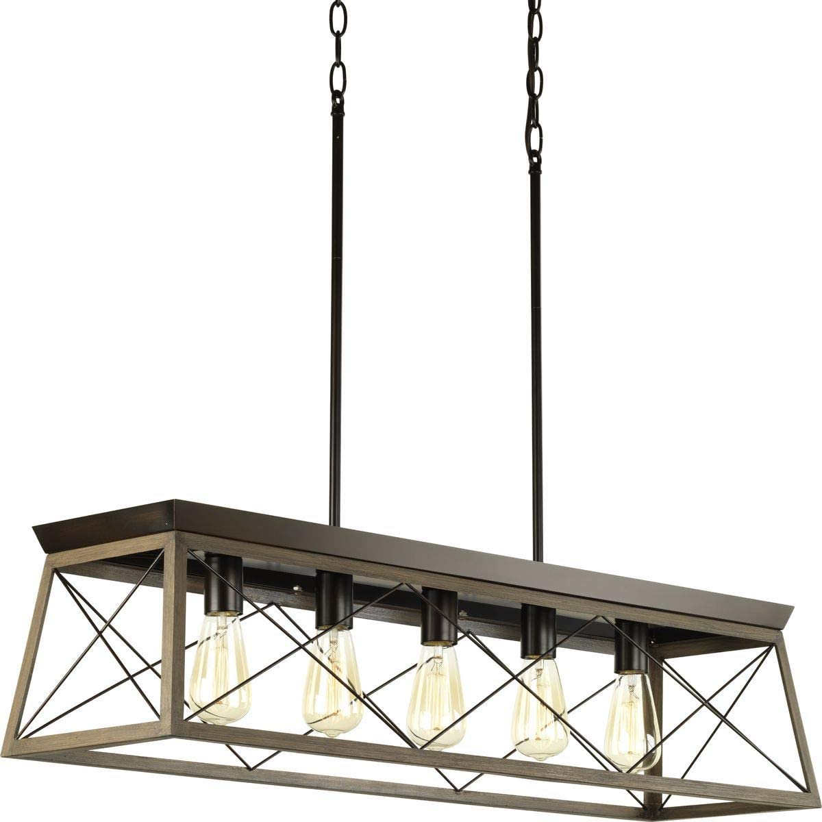 Briarwood Rich Oak Five Collection Progress Lighting