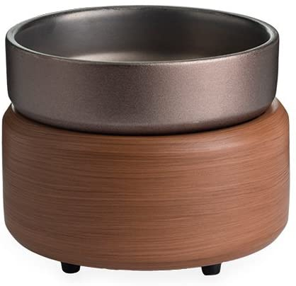 Candle WARMERS ETC Candle and Fragrance Warmer Pewter Walnut