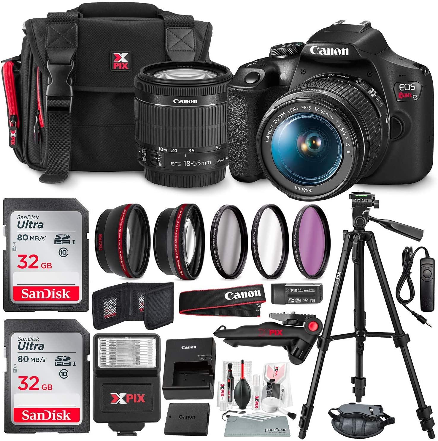 Canon T7 EOS Rebel DSLR Camera
