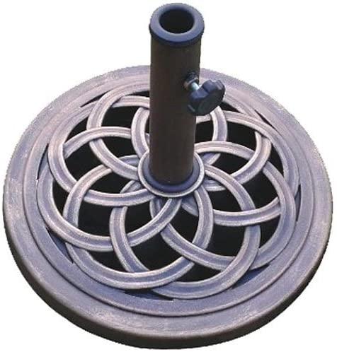 DC America UBP 18181-BR Cast Stone 18-Inch Umbrella Base