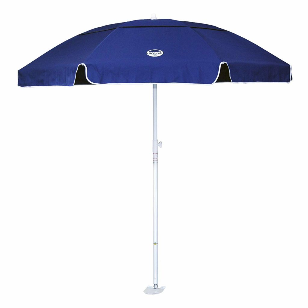 Dig-Git Beach Umbrella with Integrated Anchor