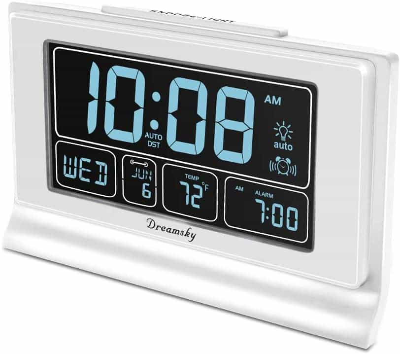 DreamSky Auto Set Digital Alarm Clock with FM Radio