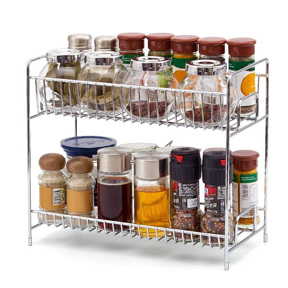 EZOWare 2-Tier Kitchen and Bathroom Organizer Rack Stand