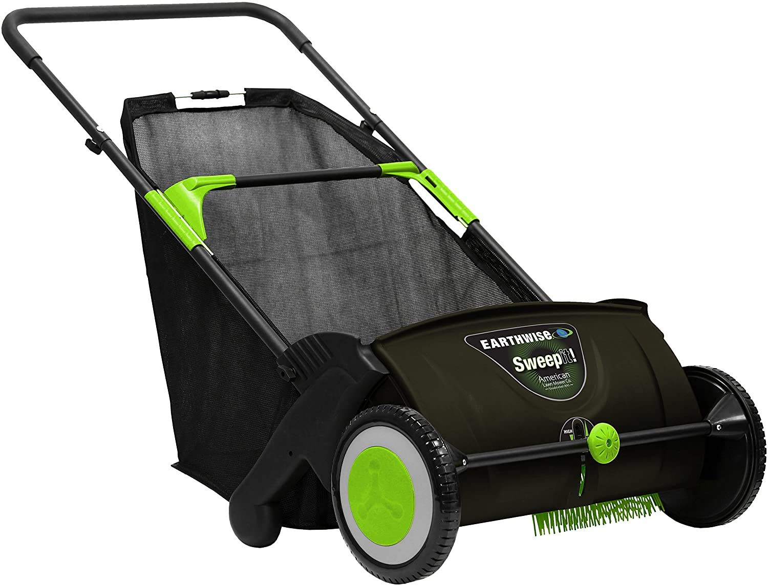 Earthwise 21-Inch LSW70021 Grass & Leaf Push Lawn Sweeper