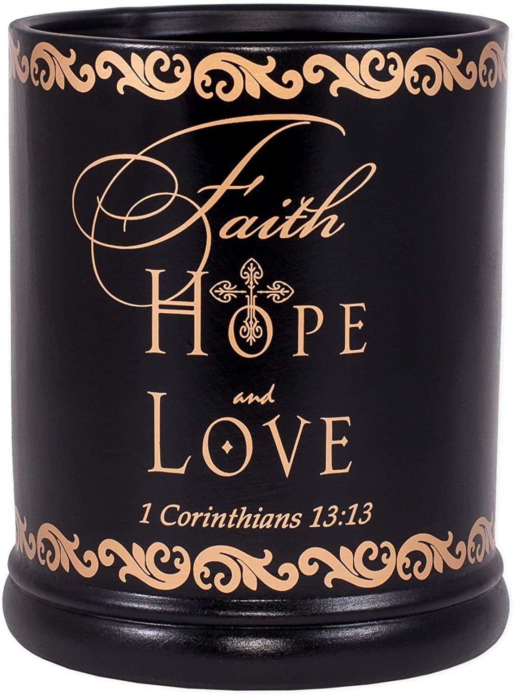 Elanze Designs Love Faith Hope Ceramic Candle Warmer