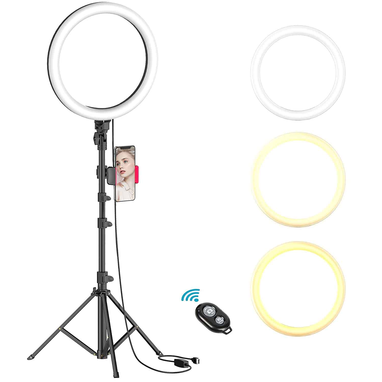 Erligpowht Ring Light wit Stand