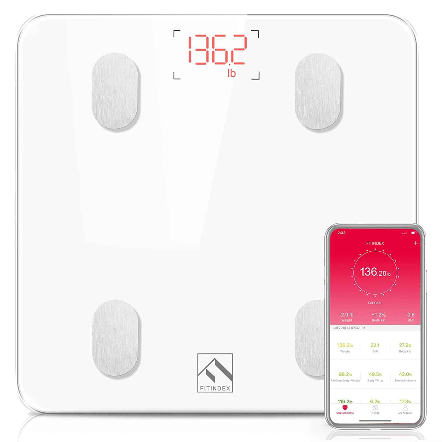 FITINDEX Body Fat Scale