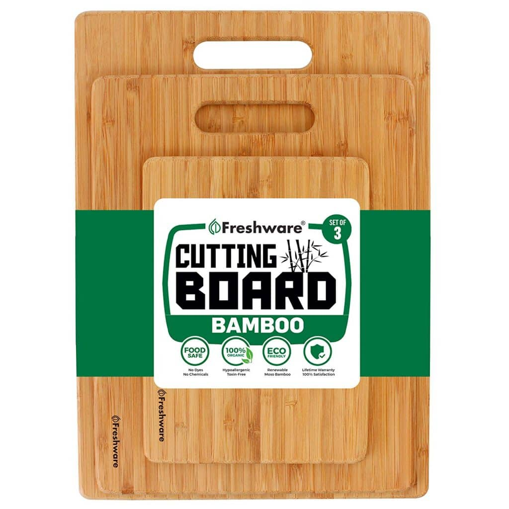 Freshware Bamboo Cutting Boards for Kitchens