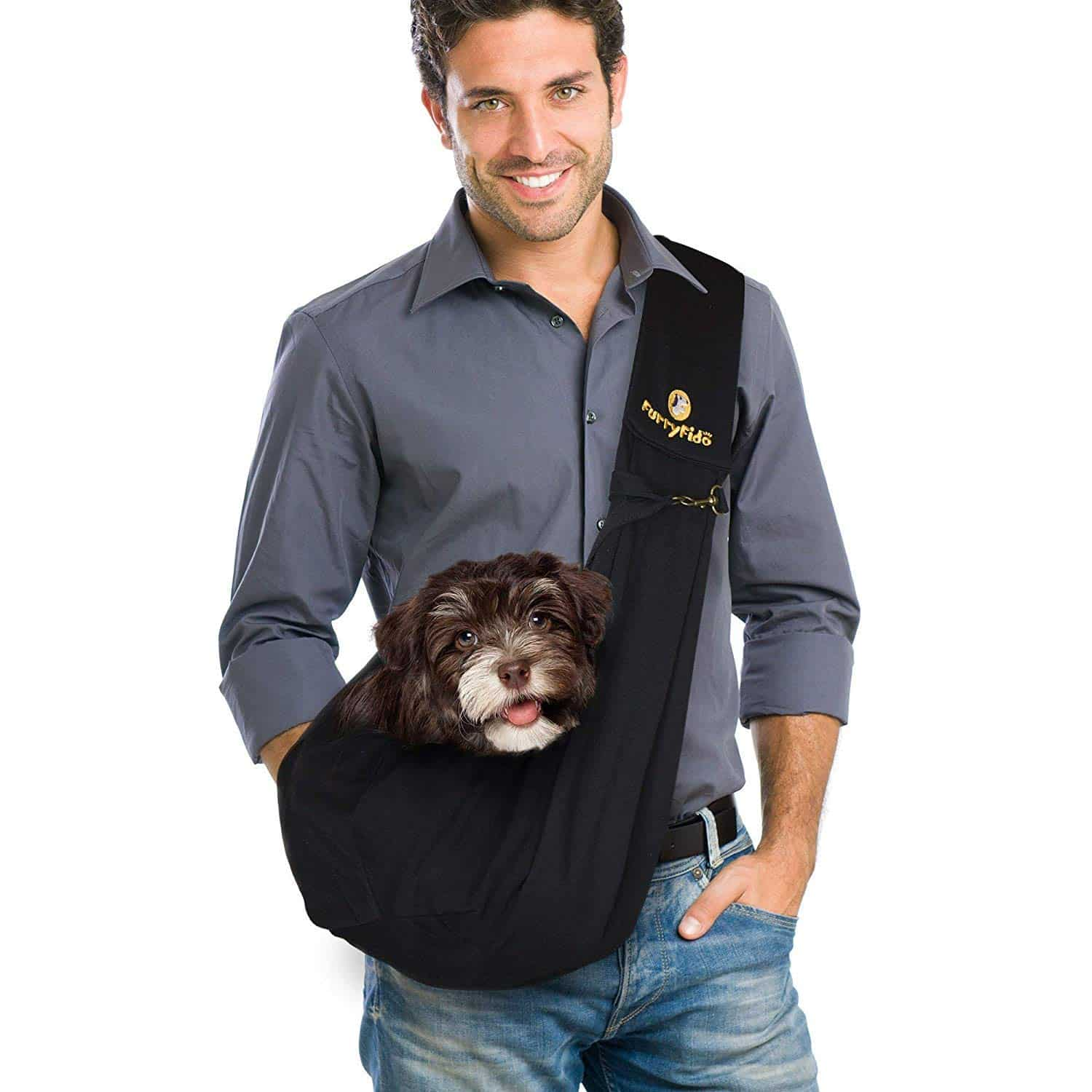 FurryFido Reversible Pet Sling Carrier