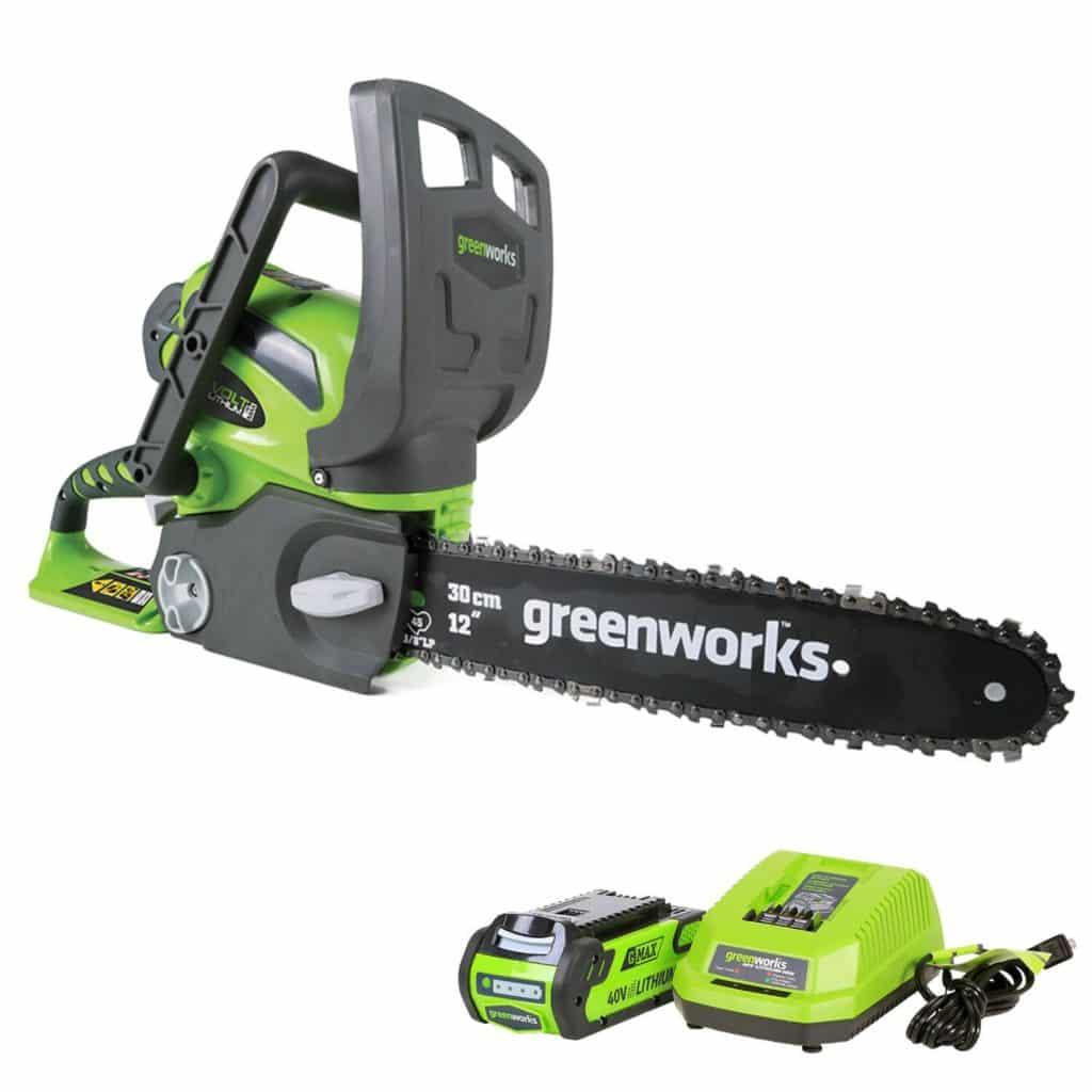 Greenworks 12-inch 40 V cordless Chainsaw