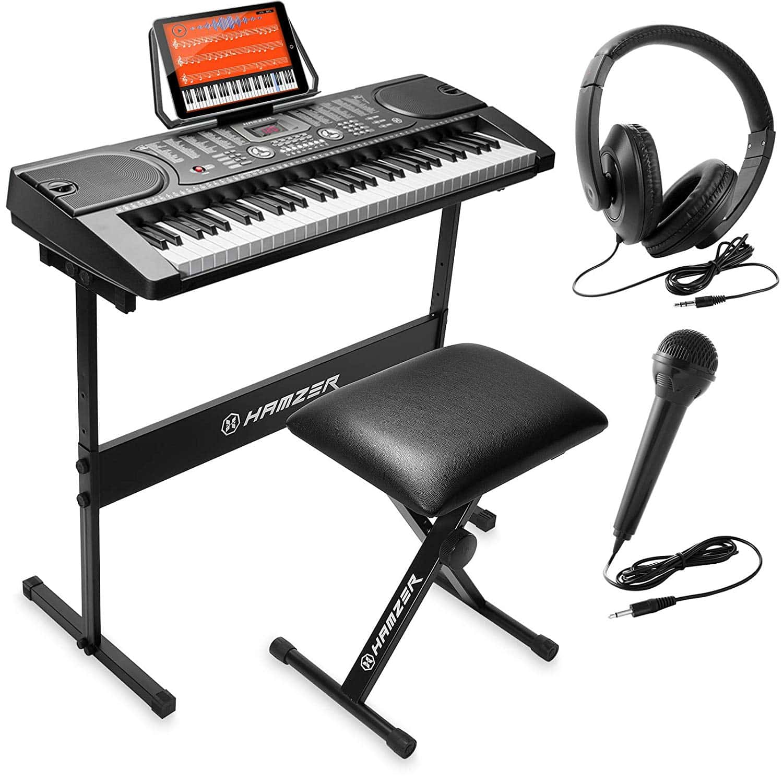 Hamzer 61-Key Portable Electronic Keyboard Piano