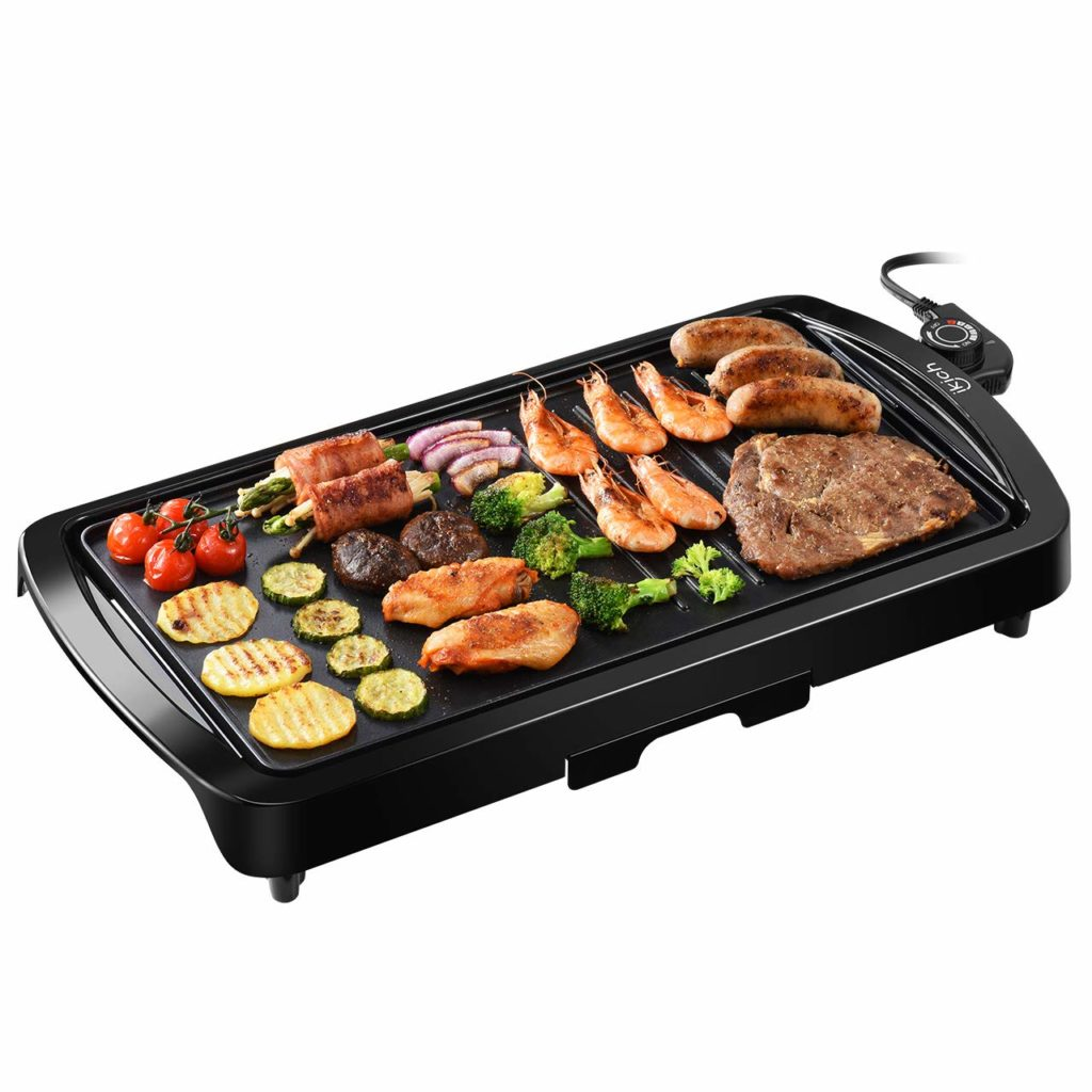 IKICH Electric Griddle indoor smokeless nonstick electric griddle