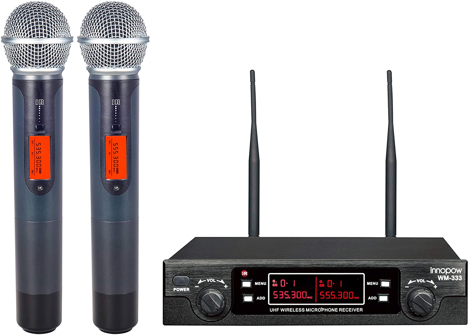Innopow WM-333 Wireless Microphone System