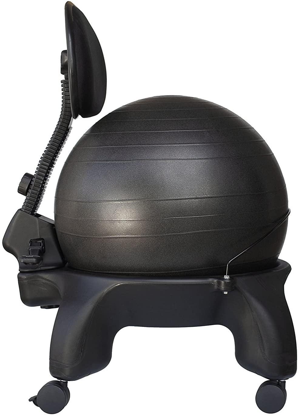 Isokinetics Inc. Adjustable Back Exercise Ball Office Chair