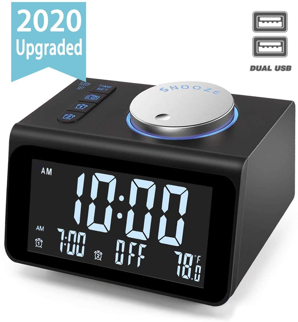 JALL Digital Alarm Clock with FM Radio