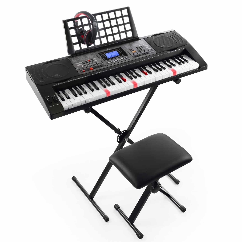 Joy 61-Key Lighted Touch Sensitive & USB-Midi (App) Keyboard