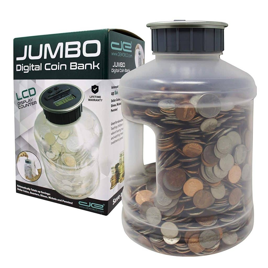 Jumbo Digital Coin Counter