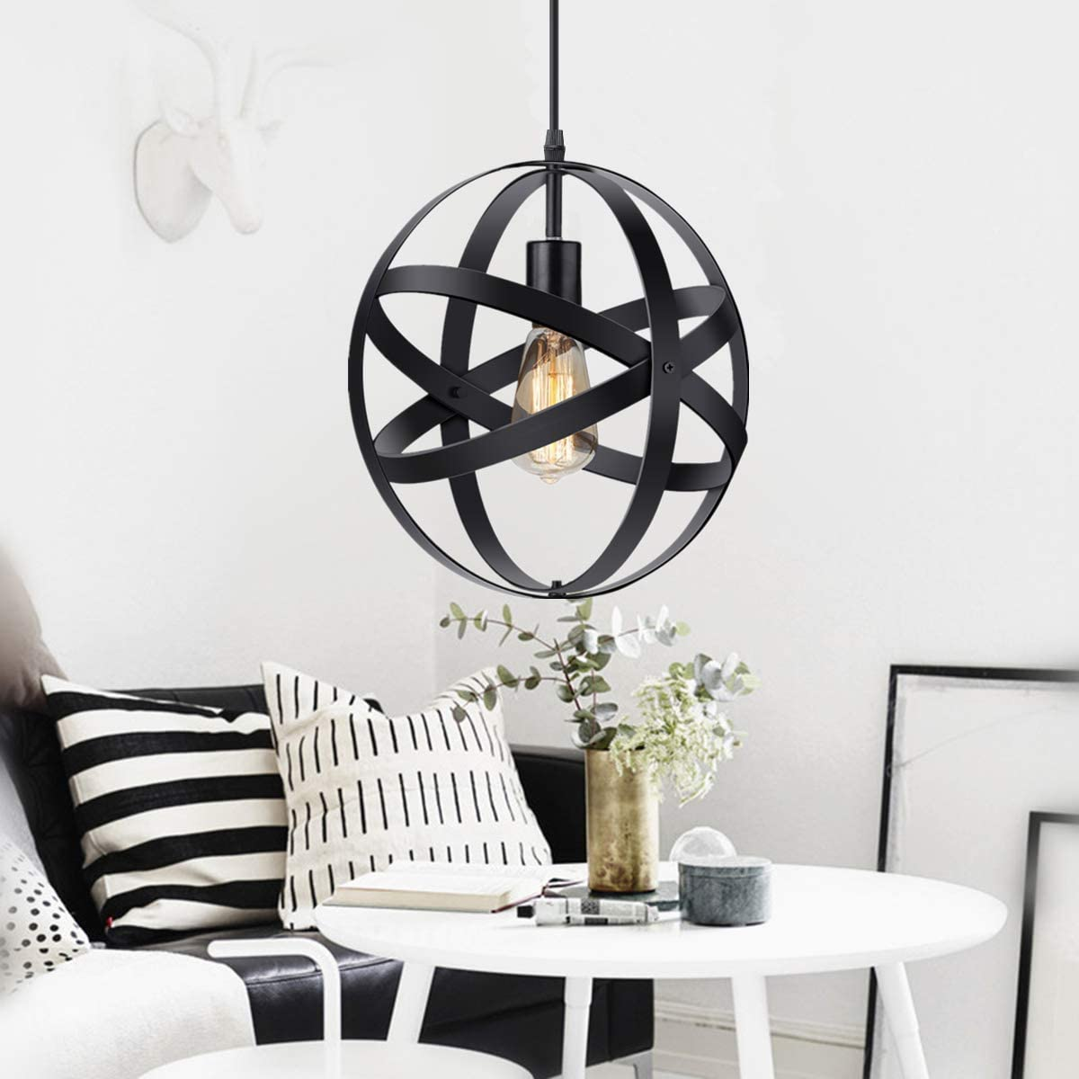 KingSo Industrial Spherical Metal Pendant Light