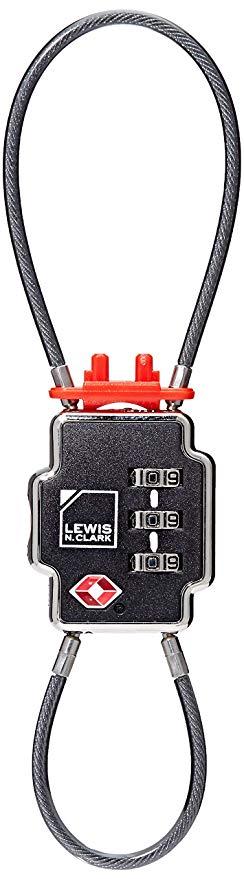 Lewis N Clark Triple Security Cable Lock