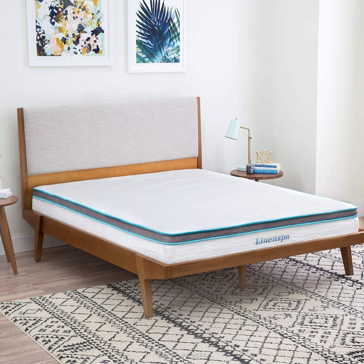 Linenspa 8-Inch Memory Foam and Innerspring Hybrid Mattress
