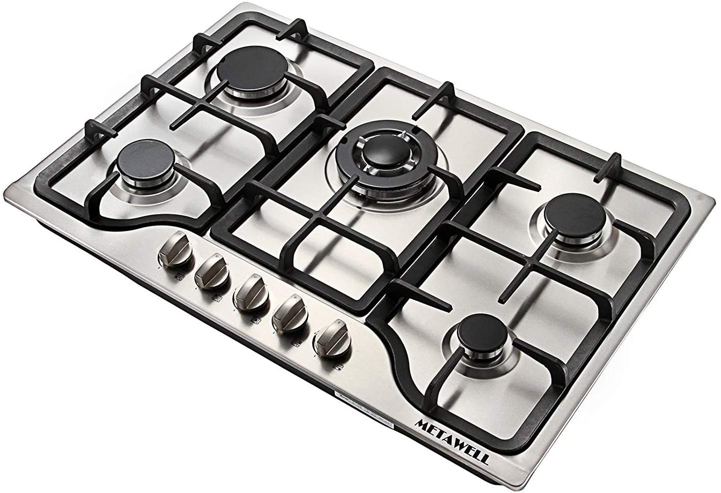 METAWELL 5 Burner NG Gas Hob Cooktop