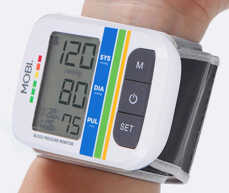 MOBI Health Automatic Wrist Blood Pressure Cuff Monitor