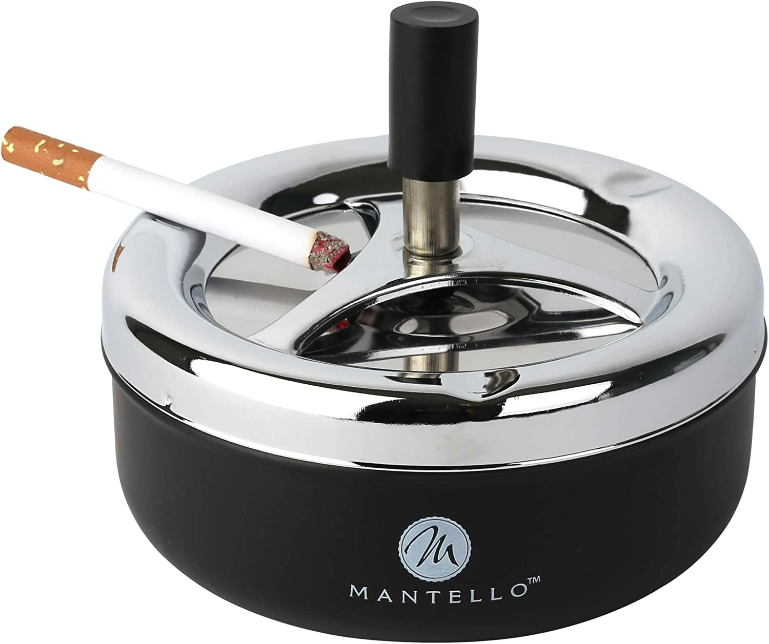 Mantello Round Push Down Cigarette Ashtray