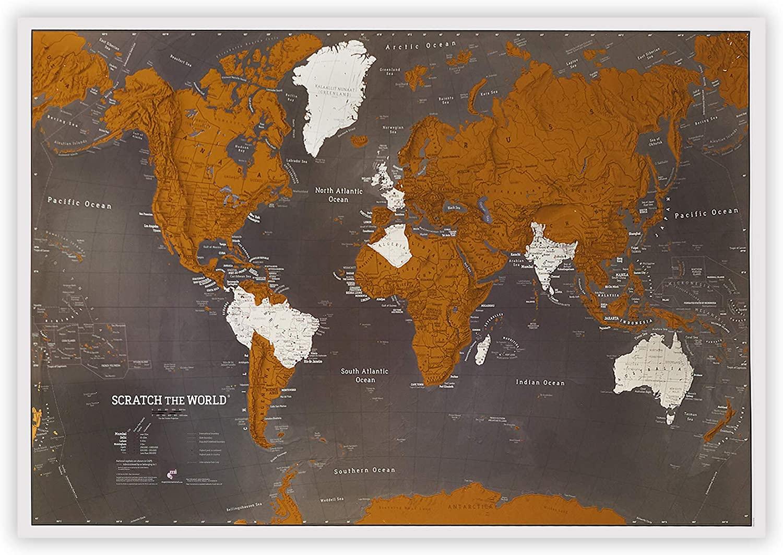 Maps International Scratch off World Map Poster