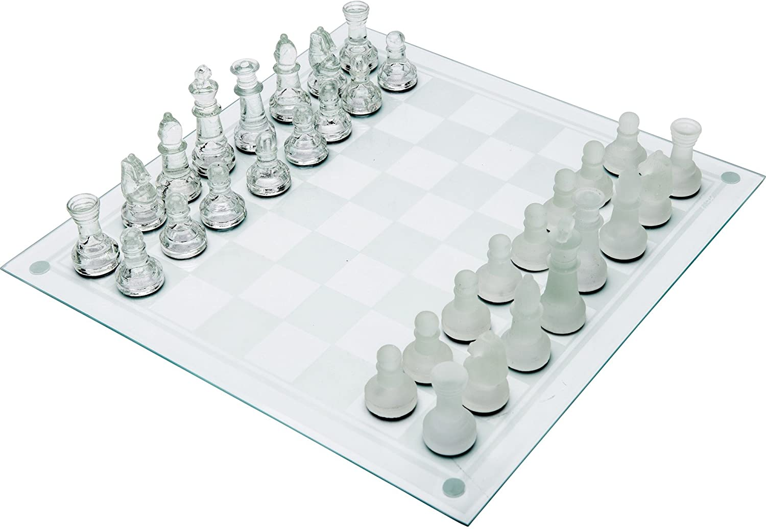 Maxam Glass Chess Set
