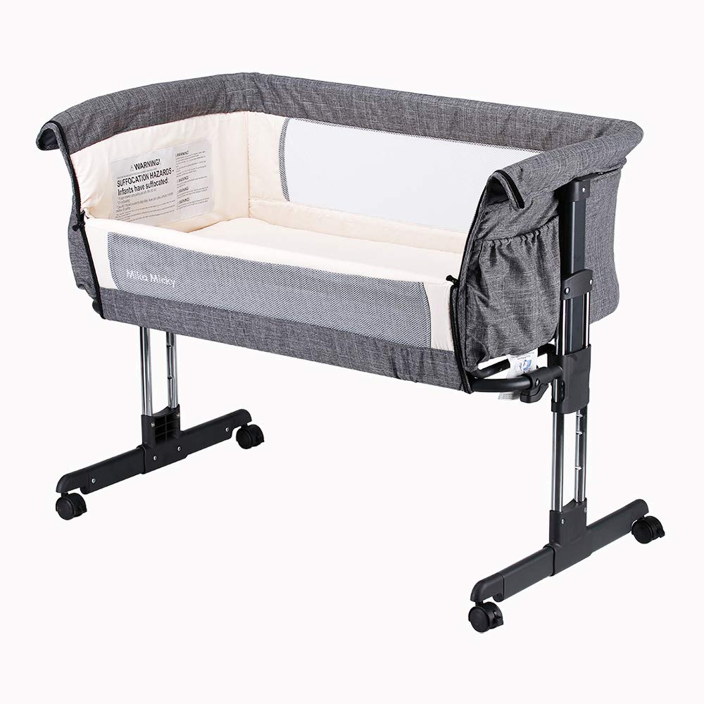 Mika Micky Bedside Sleeper Easy Folding Portable Crib