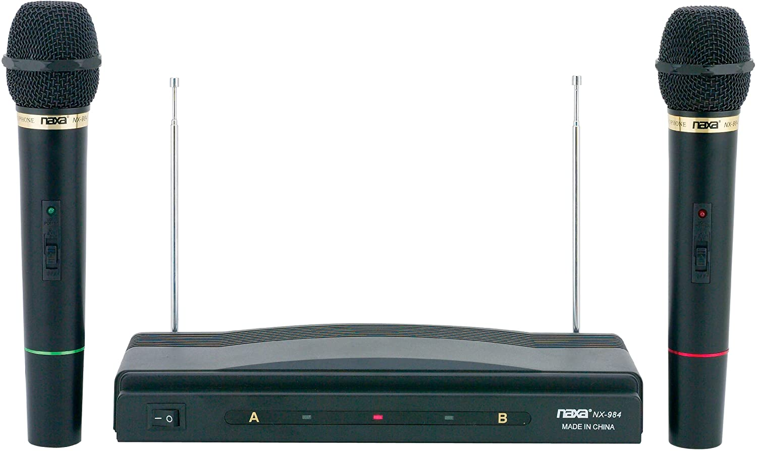 Naxa Electronics NAM-984 Dual Wireless Microphone System