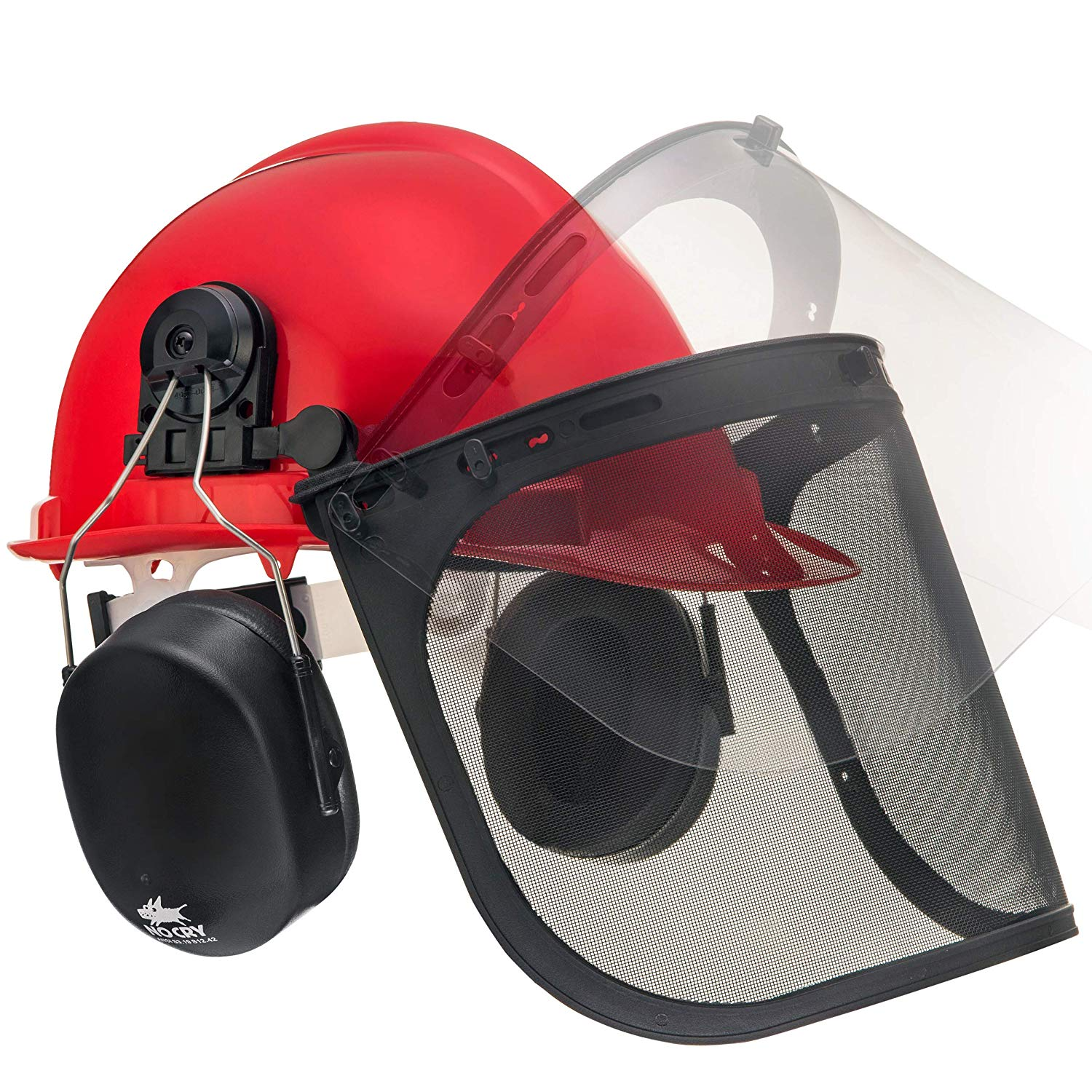 NoCry 6-in-1 Industrial Forestry Safety Helmet