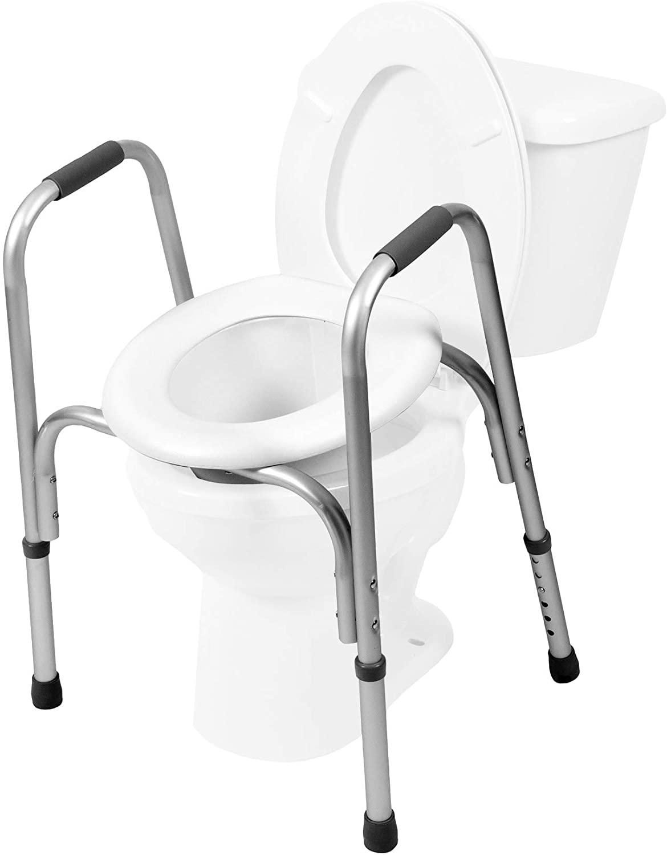 PCP Raised Toilet Adjustable Elevated