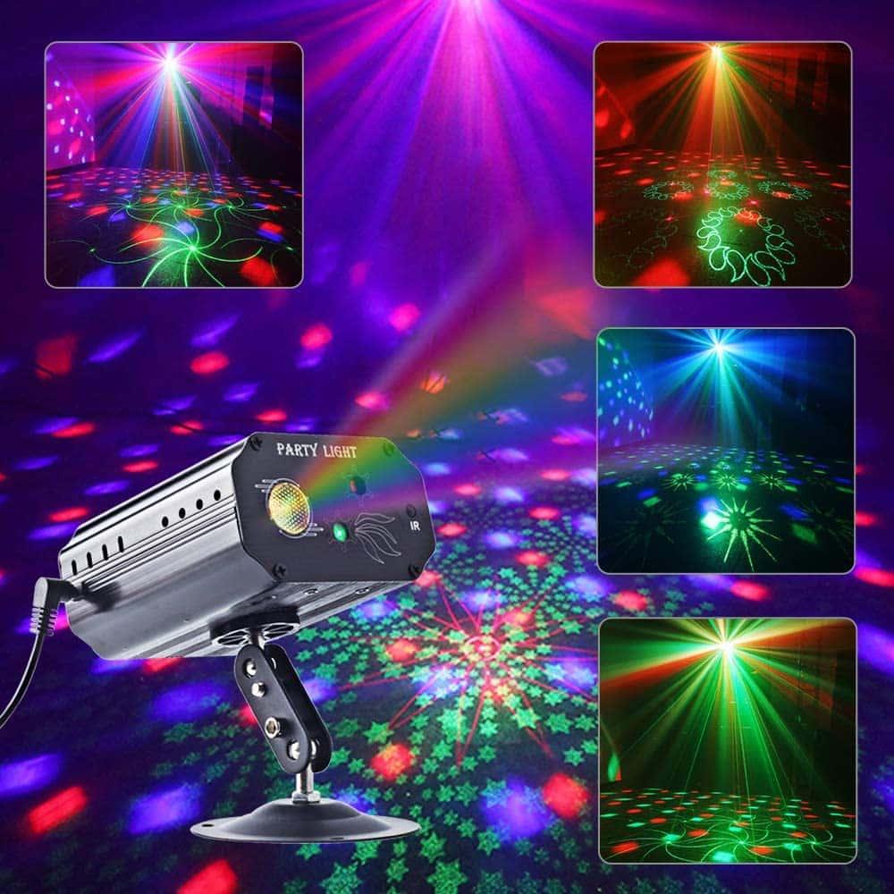 Party Lights RGB 3 Lens DJ Disco Stage Laser Light