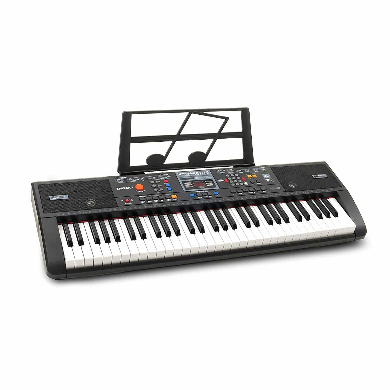 Plixio 61-Key Digital Electric Piano Keyboard & Sheet Music Stand