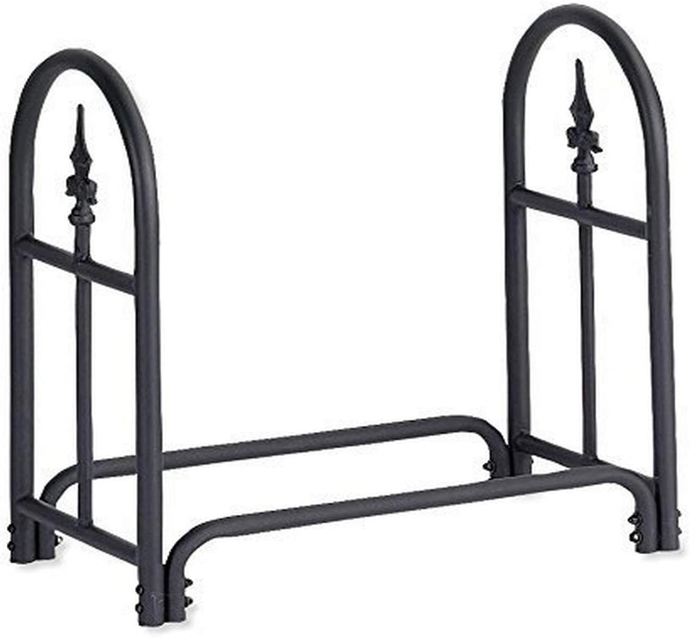 Plow & Hearth 10117 Heavy-Duty Steel Outdoor Firewood Rack
