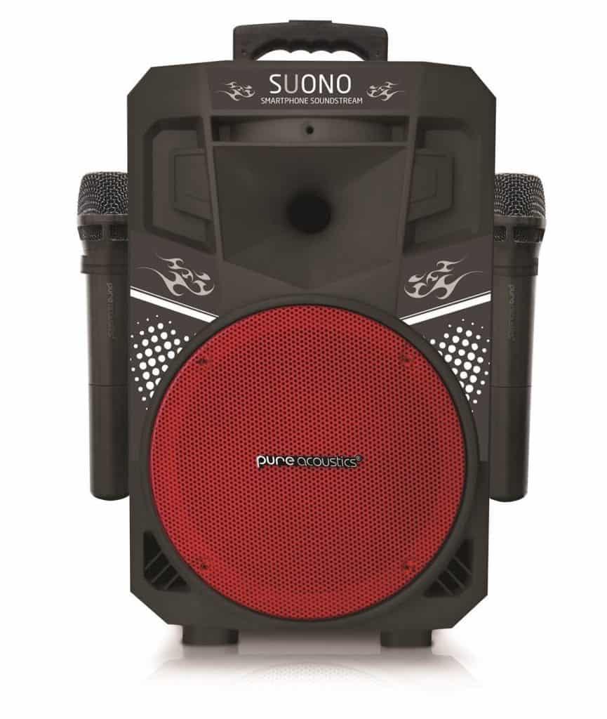 Pure Acoustics Audio Speaker Party with Karaoke Machine 188