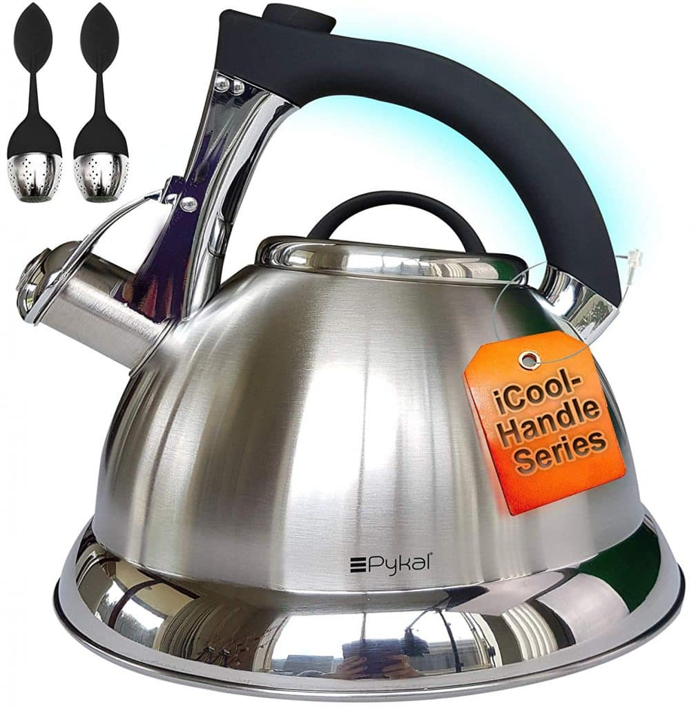 Pykal Whistling Tea Kettle with iCool – Handle